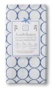 SwaddleDesigns Marquisette Swaddling Blanket, Premium Cotton Muslin, True Blue Jewel Tone Mod Circles