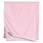 Laura Dare Baby-Girls Pink Rosebud Jersey Blanket