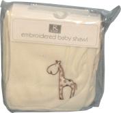 R Kids Elli & Raff Fleece Baby Shawl Blanket Cream