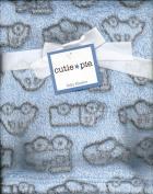 Light Blue Plush Boys Baby Blanket Cars Trucks Aeroplanes