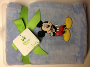 Disney Mickey Mouse Embroidered Baby Blanket Blue