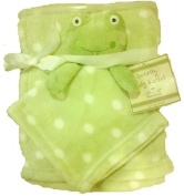 Frog Security Blanket Lime Green PolkaDot 2 Baby Blankets