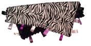 ZEBRA STRIPE ~ Reversible Satin Blanket with Ribbon Tabs