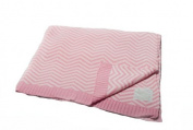 Pickles Chevron Stripe Baby Blanket, Pink, 76cm x 102cm
