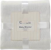 Elegant Knit Striped Baby Blanket
