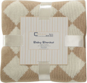 Elegant Knit Argyle Baby Blanket