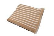 Pickles Striped Baby Blanket, Tan, 76cm x 102cm