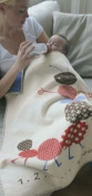 David Fussenegger Baby Blanket Lena Caterpillar 100x75cm GOTS certified