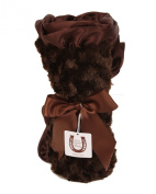 Max Daniel Baby Rosebuds and Satin Throw - Chocolate