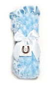 Max Daniel Baby Rosebuds and Satin Throw - Solid Blue