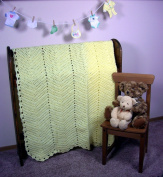 Handmade Baby Blanket - Crocheted, Made In USA