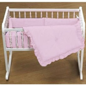Primary Colours Cradle Bedding - Colour Pink - Size 18X36