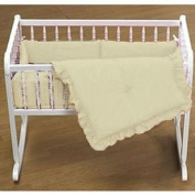 Primary Colours Cradle Bedding - Colour Yellow - Size 18X36