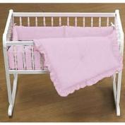 Primary Colours Cradle Bedding - Colour Pink - Size 15X33