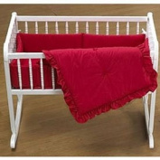 Primary Colours Cradle Bedding - Colour Red - Size 18X36