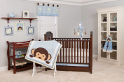 Pam Grace Creations 10 Crib Piece Bedding Set, Maddox Monkey