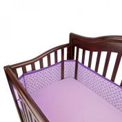 Breathable Mesh Crib Liner - Purple Stitch