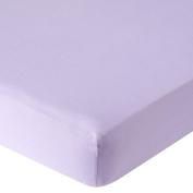 . Knit Crib Sheet - Lilac