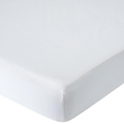 . Percale Crib Sheet - White