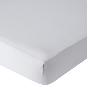 . Percale Crib Sheet - Grey