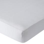 . Percale Crib Sheet - Grey