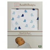 SwaddleDesigns Jewel Tone Little Chickies Fitted Crib Sheet