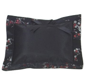 I Frogee Brocade Baby Pillow in Black-Red+Silver Cherry Blossoms