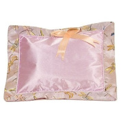 I Frogee Brocade Baby Pillow in Light Pink Dragonfly Patterns