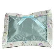 I Frogee Brocade Baby Pillow in Silver Butterfly Print