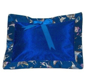 I Frogee Brocade Baby Pillow in Dark Blue Butterfly Print