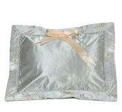 I Frogee Brocade Baby Pillow in Silver Dragonfly Pattern