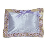 I Frogee Brocade Baby Pillow in Light Purple Fortune Flower Pattern