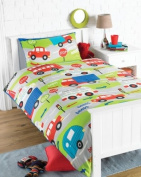 Transport Rotary Single Bed Duvet Quilt Cover Set
