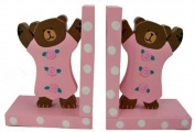 Baby Pink Teddy Bear Bookends