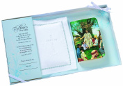 White Baby Bible with Cotton Cover