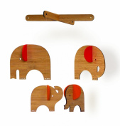 Red Elephant Deluxe Bamboo Assembled Mobile