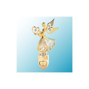 24k Gold Small Angel Night Light - Clear. Crystal
