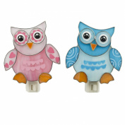 Ganz Baby Owl Night Light - Choose Blue or Pink