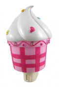 Sweet Little Cupcake Nite Lite with Pink Rhinestones