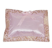 I Frogee Brocade Baby Pillow in Light Pink Fortune Flower Pattern