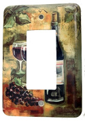 Red Wine and Grapes Painting Wall Plates