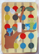 Owl Treetop Forest Friends Wall Plate