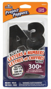 Elmer's Project Popperz Peel and Stick Letters and Numbers, 300+ Pieces, 6.4cm , Black