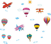 LiViTech(TM) Balloon and Aeroplane Sky Garden Special Love Wall Stickers