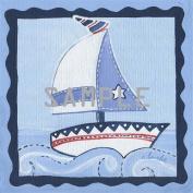 Sail Away! Square Sailboat Nursery Art Prints