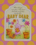 Baby Dear Wood Nursery Wall Art Plaque, PINK, 10x7.8x.7