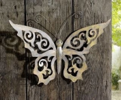 Metal Butterfly Wall D.cor - Black Metal Butterfly Wall Art with Ornate Wings Product SKU