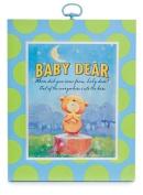 Baby Dear Wood Nursery Wall Art Plaque BLUE