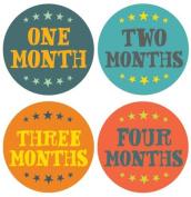 Lucy Darling Shop Baby Monthly Onesie Sticker - Baby Boy - Hand Lettering Design - Months 1-12