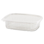 Clear Hinged Deli Container, 24oz, 7 1/4 x 6 2/5 x 2 1/4, 100/Bag, 2 Bags/Carton
